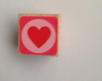 New Wood Mounted Rubber Stamp For Scrapbooking & Rubber Stamping...Valentine Heart Stamp