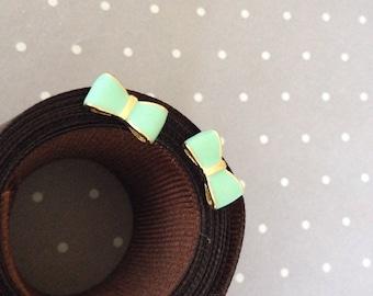 MINT Cute Lovely Bow Tie Earrings