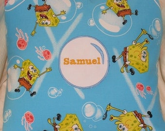 Spongebob Bubble Personalized Pillow