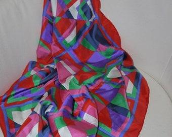 Scarf - Pure silk - Marja Kurki - Finland - 60/70s -