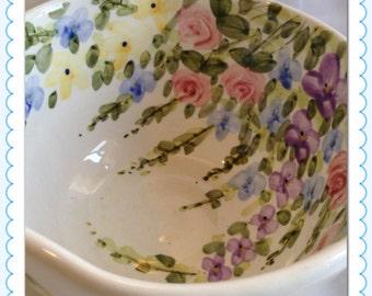 Four English Garden Bowls