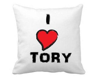 I love Tory Pillow