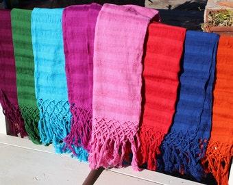 100% Cotton Mexican Scarf ( Rebozo) - All Natural Fiber- Baby Carier- Sifling for Childbirth- Colorful