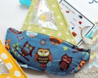 SALE blue owl Sailboat I Spy bag