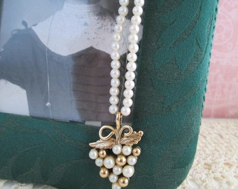 Vintage Pearly Necklace Signed by 1928 Jewelers Nostalgic and Demure Perfection