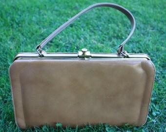 Vintage Tan 1950 Genuine Leather Shoulder bag