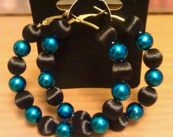 Love and Hip Hop and Basketball wives inspired blue and black hoops