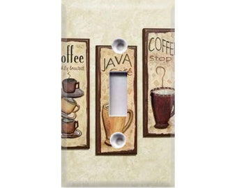 Coffee Java Light Switch Cover