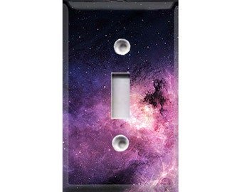 Purple Galaxy Light Switch Cover