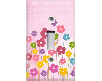Girls Flowers Light Switch Cover