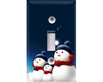Holiday Snowmen Style 2 Light Switch Cover
