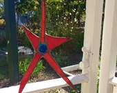 Red Stained Glass Star