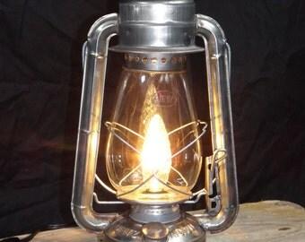 Lite Rust Electric Lantern Lamp