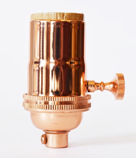 Electrical Lamp Socket Light Socket Copper Finish