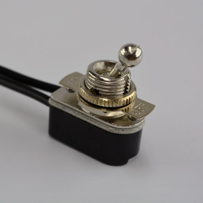On/Off Toggle Switch - Nickel Plated - Steampunk Switch - Rocker ...