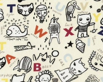 Half Yard - Alphabet - Wild Collection by Wee Gallery for Dear Stella - 1/2 Yard