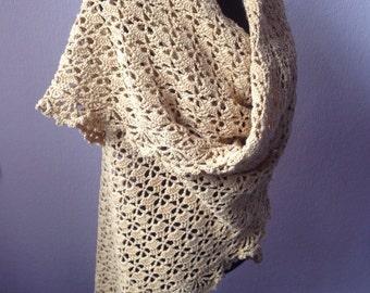 Cornhusk yellow shawl