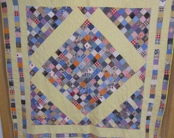 Bright, Vintage Boston Commons Quilt.  Hand Quilted.  Berks County.