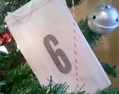 Advent Calendar - Letterpress Printed Muslin Gift Bags
