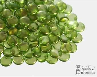 50 pc EXCLUSIVE Golden Dust Jungle Czech Lentil Beads 6 mm (8566)