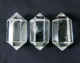 Polished Natural Quartz Crystal Double Terminated Point  - B858