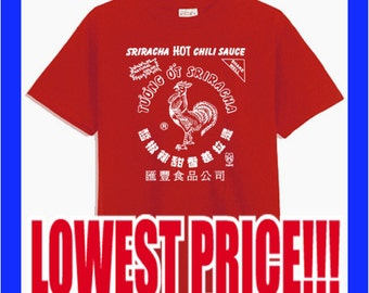 ROOSTER SAUCE sriracha HOT Chili Sauce - funny cool hip humorous chicken hot asian sauce Red T-Shirt