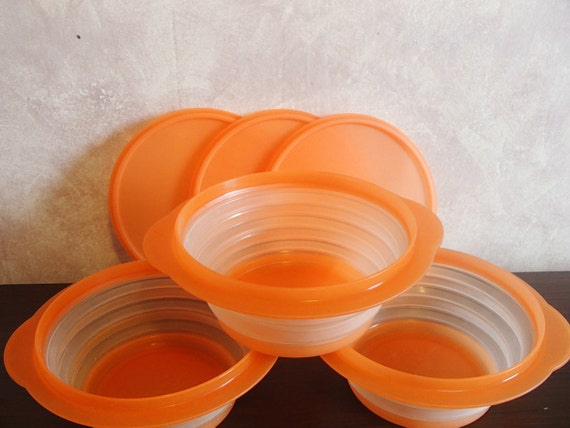 Collapsible Tupperware Bowls Set Of 3 With Lids Flat Out