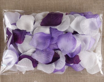 300pc mixed Rose petal-Purple,Lavender,White-