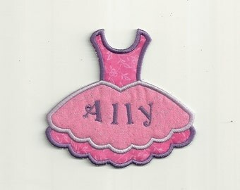 Your Name on a, Ballerina Tutu Patch! Custom Made!