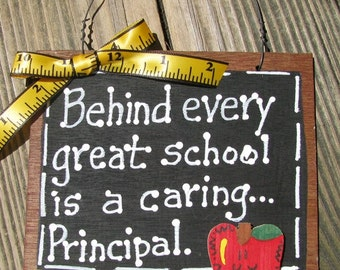 Teacher Gift  81P Behind every great school is a caring Principal