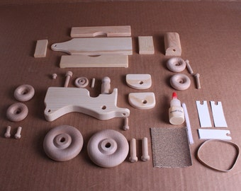 Handcrafted Wooden Tractor and Wagon Kit 120K