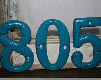 Pick Color -  4 House numbers / address signs / mailbox numbers / street numbers / apartment numbers / resin house numbers