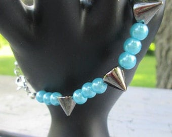Gorgeous Pearls And Spikes and Lobster Clasp Oh My Sz 8 Custom Available