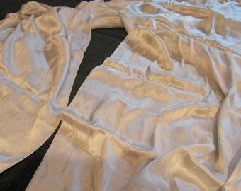 vintage silk crepe fabric, circa 40s, a delicious pale ice blue