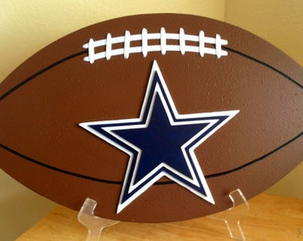 Dallas Cowboys 3D Football Sign