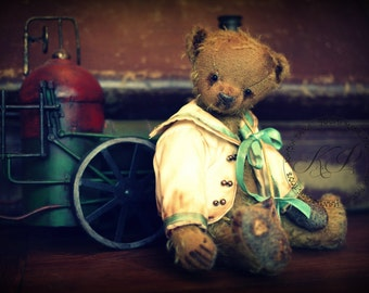 """PDF EpatternTraditional Style 8.5"""" Teddy Bear and His Sailor Jacket"""