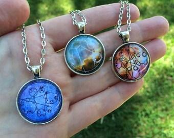 CUSTOM - Doctor Who Gallifreyan Pendant Necklace or Keychain
