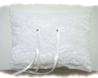 Wedding Ring Pillow - Ring Bearer Pillow - Sparkling Crystal