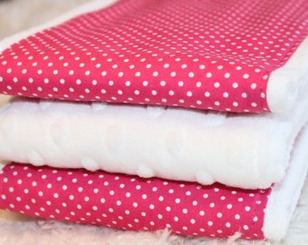 Pink and White, Baby Burp Cloths