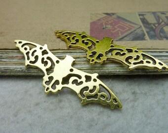 20pcs 19x56mm Antique Bronze / Antique Silver / Antique Gold Bat Charms Pendants Jeewelry Findings Ac7715
