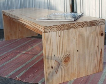 solid timber coffee table/bench