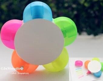 Markers-Cute Novelty flower shape 5 colors in 1 Highlighter Marker pen