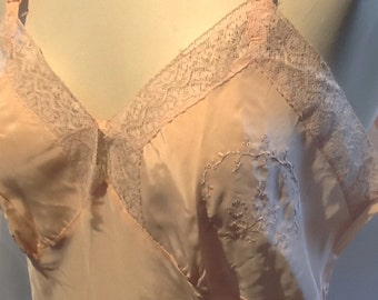 50's Rayon with Lace Slip size 36 new old stock