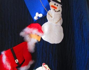 Ugly Christmas Sweater BEER PONG Santa and the gang playing Beer Pong #43