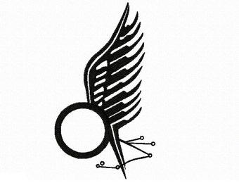 Battlestar Gallactica - BSG - Starbuck Tattoo ~ Machine Embroidery Design - 1 size large - Instant Download