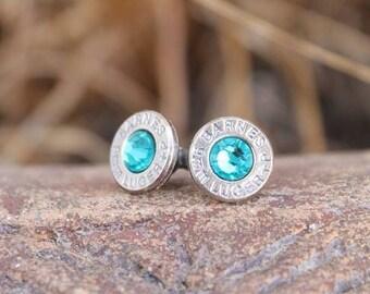 Bullet Stud Earrings with Hypoallergenic Titanium Posts
