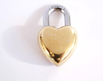 Small Heart Lock & Heart Key wedding gifts LOVE LOCK heart padlock shabby chic wedding decor . unique 7th anniversary gifts for her