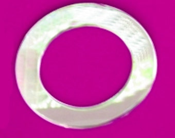 Acrylic Mirror Round Down Light Surrounds (Pack of 4)
