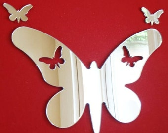 Butterflies out of Long Wings Butterfly Mirror - 5 Sizes Available