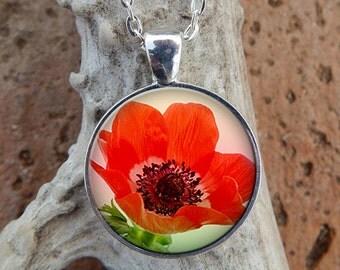 Orange Poppy Pendant